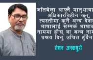 हिन्दीको जादु टुट्दैछ – रोशन जनकपुरी